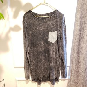 Pull & Bear Distressed Gray Shirt